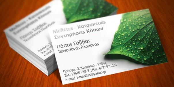 Dingo Greece business cards for Savvas Pattas, Rhodes