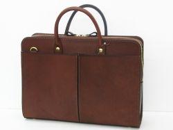 前後面に大きなポケットが付いた人気の総革2wayビジネスバッグ「革鞄のHERZ公式通販」
