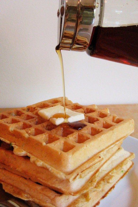 Zucchini Bread Waffles | Kinsey Cooks | Breakfast | Pinterest