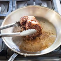 Cooking frozen steak