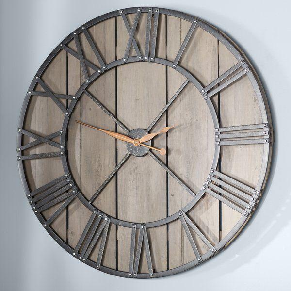 Oversized Eglinton Barnwood 36 Wall Clock Big Wall Clocks