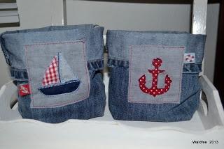 Denim bags with a nautical theme - Waldfee