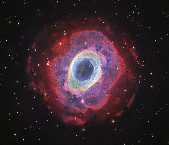 Blue and Red Pheonix Nebula - Pics about space