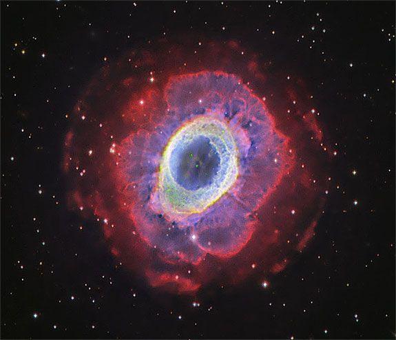 blue and red pheonix nebula - photo #1