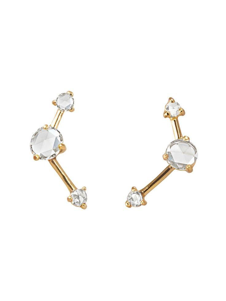 Three Step 14-karat Gold Diamond Earring - one size Wwake 5HHfnyUts