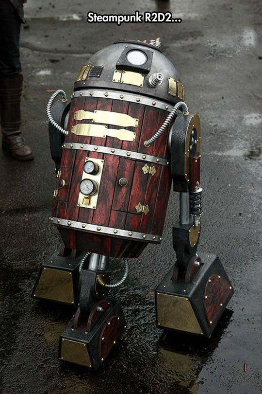Steampunk R2D2. Would be great if it doubled as a portable mini-keg.