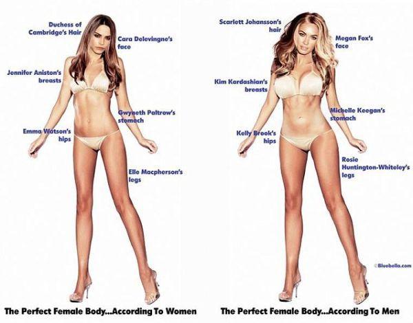 Takto vyzerá dokonalé telo podľa mužov a žien   Diva.sk