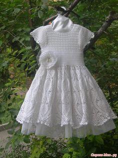 Описание белого платья для принцессы! Добавила Схемы из журнала