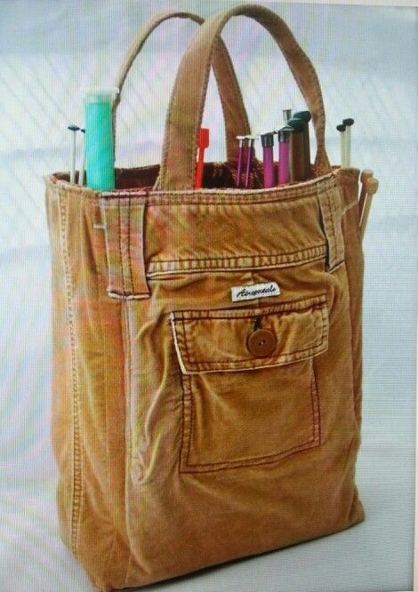 This is so going to be my knitting bag when I learn how to sew! No links!