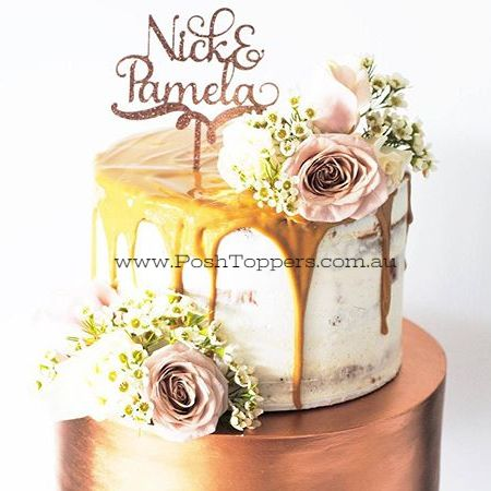 Dior Custom Name & Name - Wedding Cake Toppers Australia