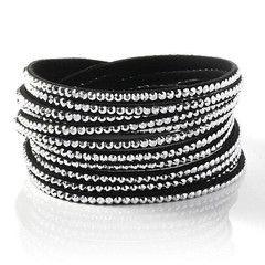 2 Pcs Crystal Wrap Bracelet-8 Colours | DrGrab