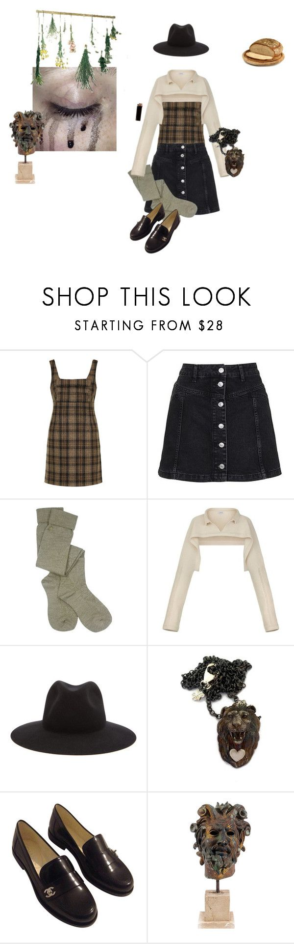 """""""Wildwood"""" by vulture95 ❤ liked on Polyvore featuring Unique, Topshop, Pendleton, Loewe, rag & bone, Cabbage is King, GAS Jeans and Chanel"""