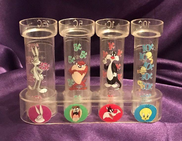 VTG LOONEY TUNES / BUGS/TAZ/SYLVESTER & TWEETY 1c/5c/10c/25c COIN CHANGE COUNTER #LOONEYTUNESWARNERBROS