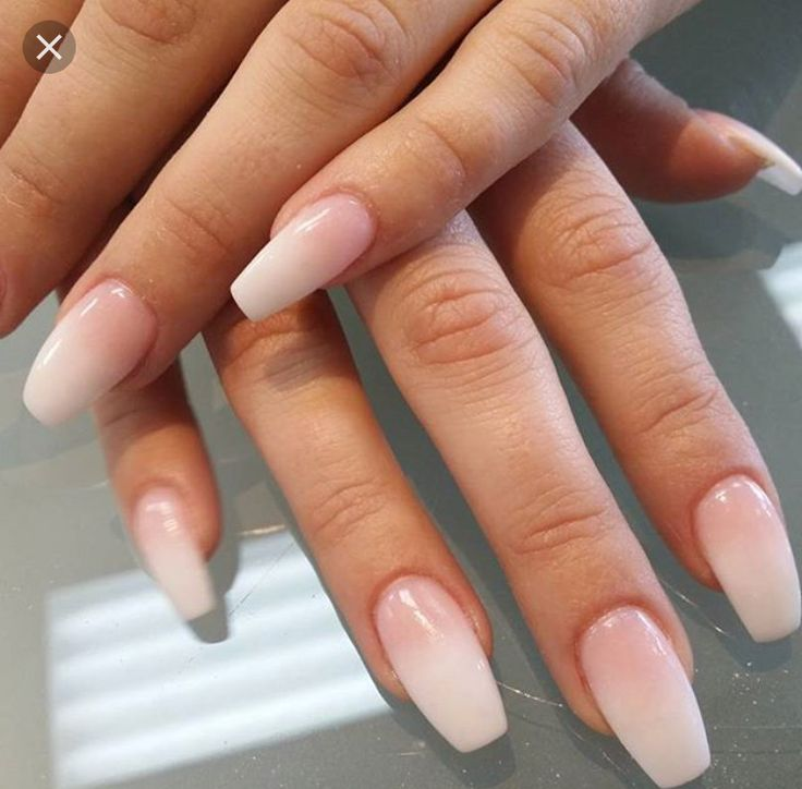 pink and white ombre nails - 736×724