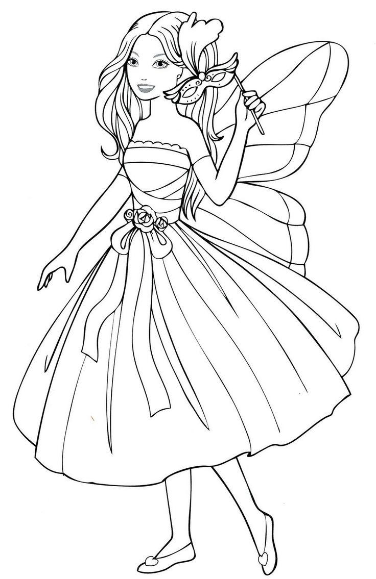 Девочка в карнавальном платье феи