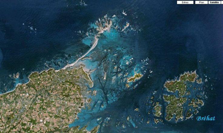 Le sillon du Talbert, en Pleubian. Vue satellite