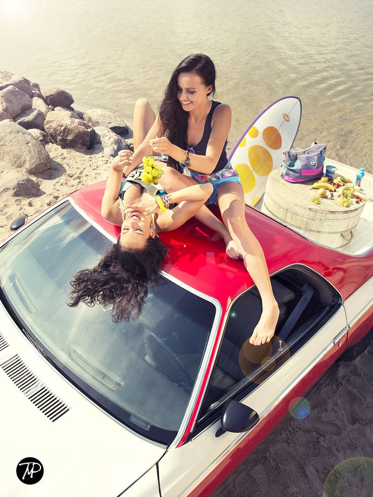 on car  #kitesurfing #surfing #nudeart #MichalPaz #Woman #holiday