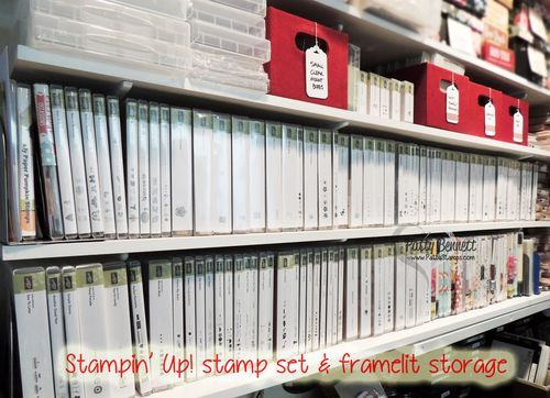 Stampin Up Stamp Set Organization In My Craft Room By Patty Bennett Stampinup Craft Home