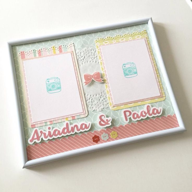 A custom photo frame for two little girls.