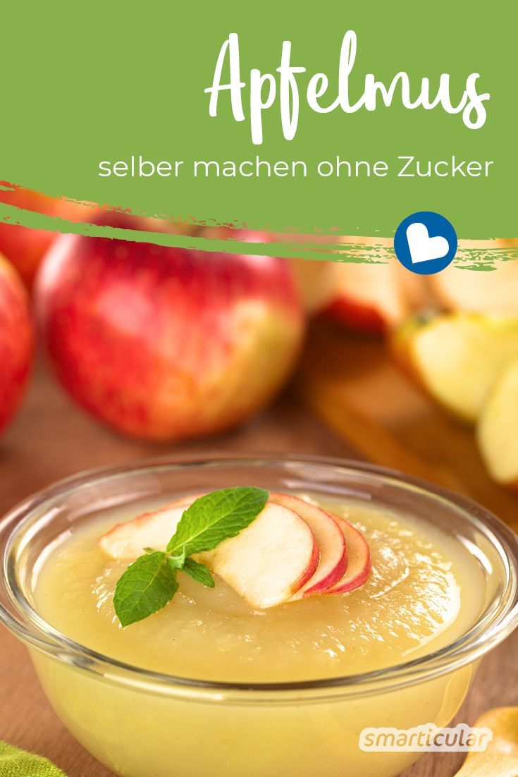 Make applesauce yourself: very easy and without added sugar