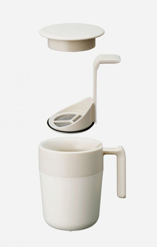 Let the plunger do the work of brewing easily for you. This mug is suitable to brew coffee or tea, by only putting the ground coffee or tea leaves in, pour boiled water and let it brew for a few minutes. After a while, push down the plunger slowly and enjoy your drink. http://www.zocko.com/z/JFEoT