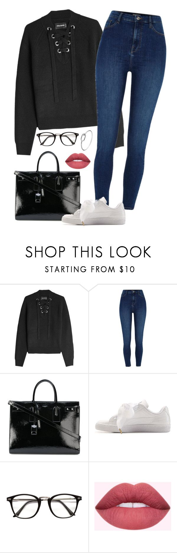 """Simple"" by alwateenalr on Polyvore featuring Zadig & Voltaire, Yves Saint Laurent and Puma"