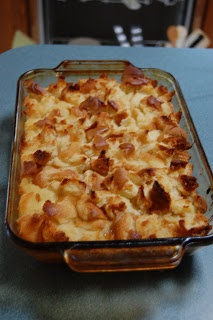 Baked Pineapple bread pudding