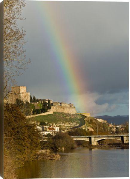 500px Art / Rainbow over Ciudad Rodrigo by Eduardo Estellez