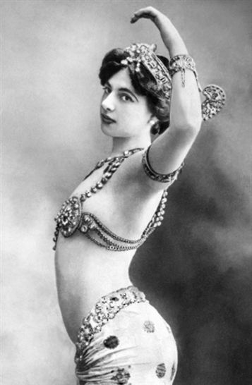 Margaretha Geertruida Zelle MacLeod (1876 –1917), better known by the stage name Mata Hari, was a Dutch exotic dancer and courtesan who was convicted of being a spy and executed by firing squad in France under charges of espionage for Germany during World War I. Photo 1910