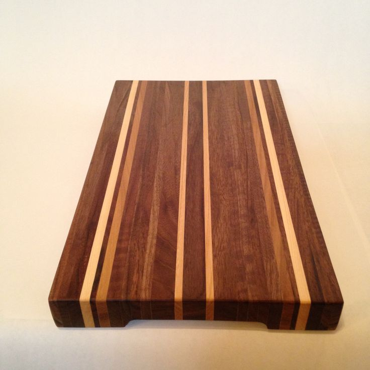 Walnut, Elm, & Maple cutting board.  Made from Manitoba salvaged logs.