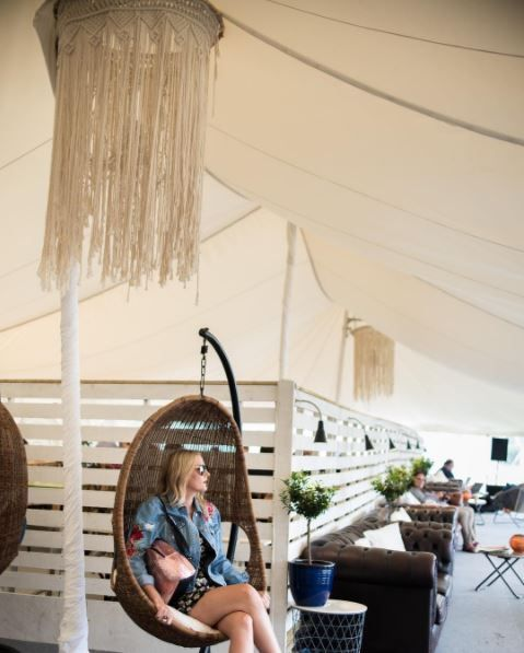 We love this photo from Glastonbury Festival last week; we furnished the Pop Up Hotel; a luxurious camping space on site, it even had a swimming pool!