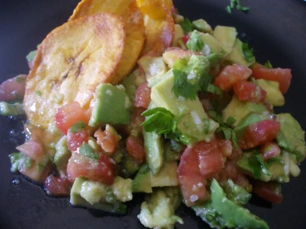 Guasacaca Sauce (Venezuela) from Food.com:   I use this sauce with Doritos ;) or tostones (another recipe mine) Try it you will like it ;)