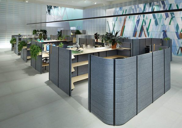 Thanks to Workbays by the Bouroullec brothers. entirely new office environments can be created,