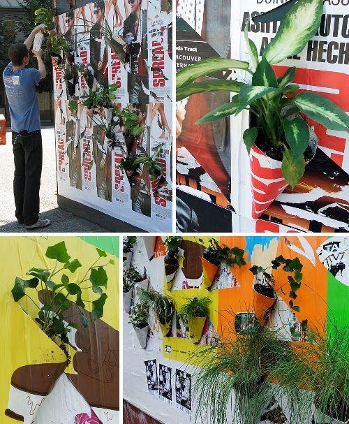 Poster Pockets Plants è un'azione di #guerrillagardening promossa da Eric Cheung e Sean Martindale, due ragazzi di #Toronto, per premettere alla #natura di riappropriarsi dello spazio comune.  Dall'estate 2009 Poster Pockets Plants crea microcosmi urbani sui manifesti pubblicitari.  #GuerrillaGardening su @Marrai a Fura (sostenibilità e partecipazione)