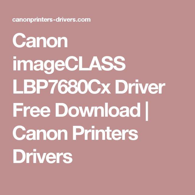 Canon imageCLASS LBP7680Cx Driver Free Download | Canon Printers Drivers