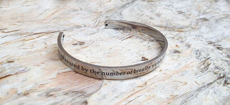 Bracelet Cuff - Life's Breaths. Find it at www.giftedmemoriesjewellery.com.au