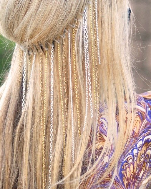 DIY chain headband - Click image to find more hot Pinterest pins