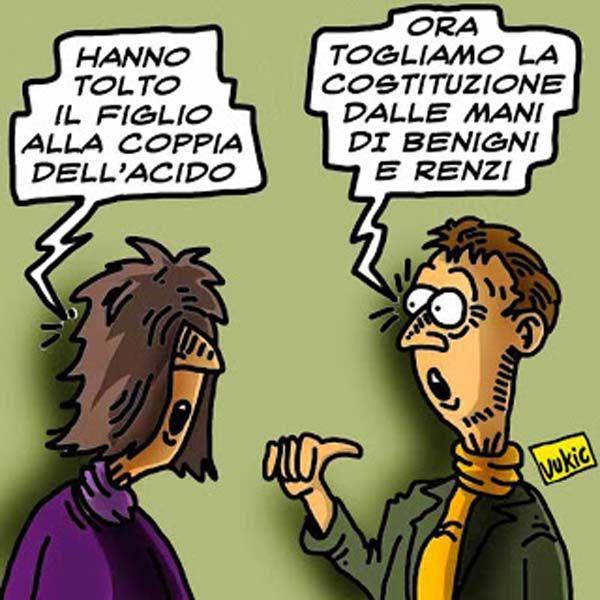 Benigni-Renzi: la coppia del referendum...