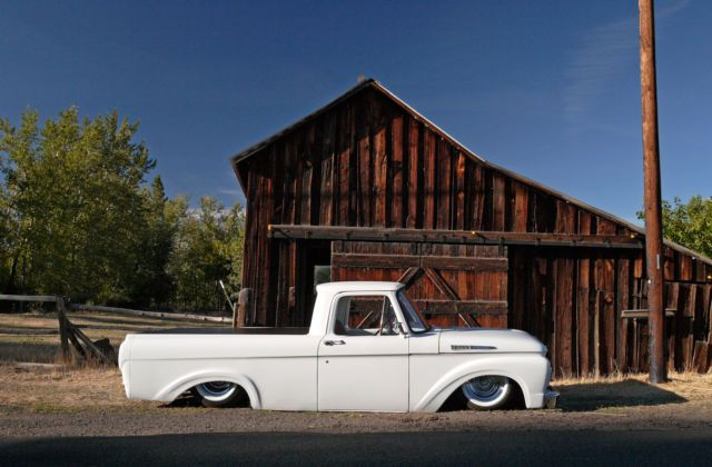 Bagged 1961 Ford F100 Unibody Truck