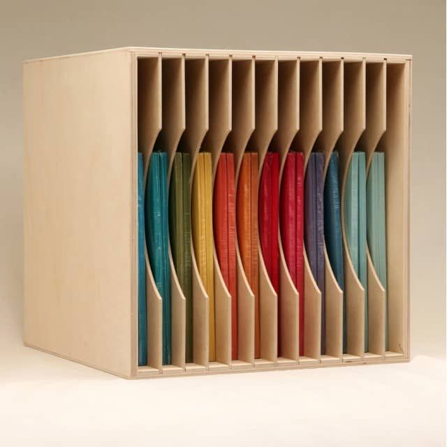 """The IKEA® Kallax shelving (formerly Expedit) is an up-and-coming option for craft room storage. We've designed a Paper Holder that will perfectly fit inside of the IKEA® shelving openings like a hand in a glove! You'll have the flexibility to store your paper vertically or horizontally.The Paper Holder will provide 12 slots that will let you display your collection of cardstock and/or paper.The slots are just under 1"""" tall and store 12""""x12"""" and 8.5""""x11"""" sheets. The dividers can be removed…"""
