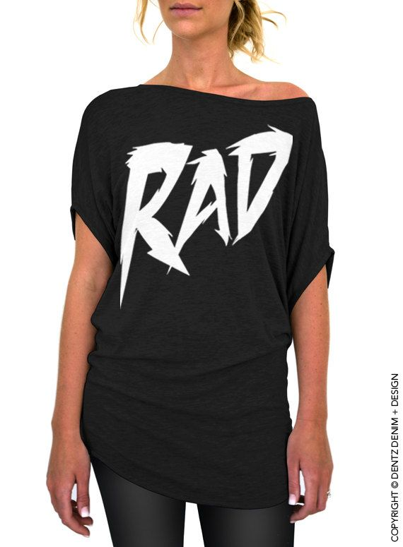 "Use coupon code ""pinterest"" Rad - Black Longer Length Slouchy Tee (Small - Plus Sizes) by DentzDenim"