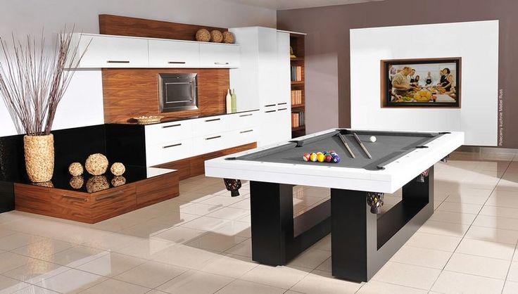 Stół bilardowy Montreal w otwartej kuchni