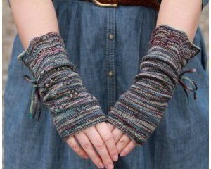 Lady Violet's Dinner Gauntlets made from lorna's laces sportmate 1 skein that I just pinned
