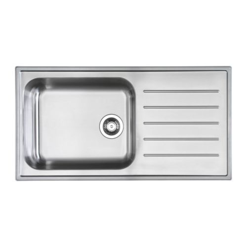 Kitchen: 1 bowl inset sink with drainer. I love this sink being deep (for large pots..and washing clothes, if needed)Inset Sinks, Articles Numbers, Drainboard Sinks, 145 99, Bowls Inset, Kitchen Sinks, Ikea, Stainless Steel, Kitchens Sinks