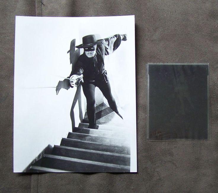 ZORRO GUY WILLIAMS Actor  in 1957-1959 TV Series 8 x 10 B&W Photo & Negative