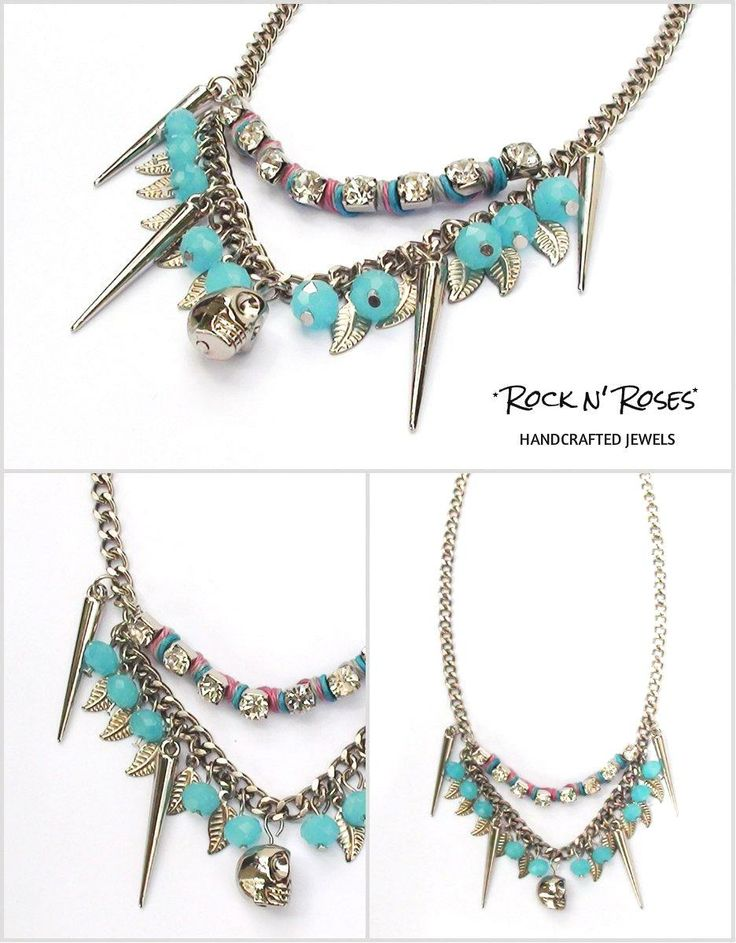 ★__Rock n' Roses handcrafted jewels--sooo rock n' turquaze necklace__★  http://rocknroses-gr.blogspot.gr/2014/04/rock-n-roses-new-necklaces-ss-2014.html