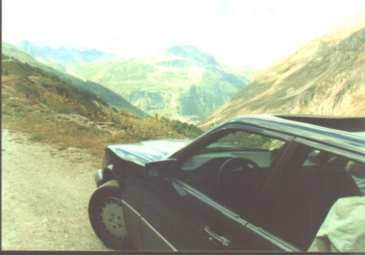 Mijn Mercedes 250 D in de Franse Alpen