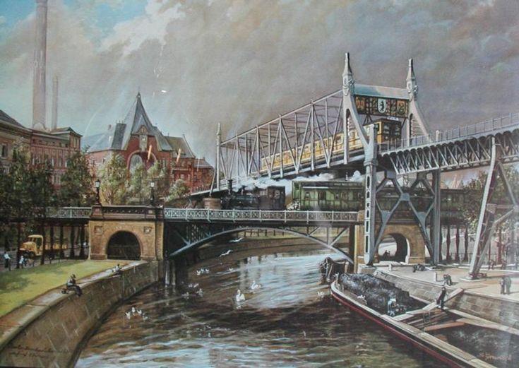 Berlin,Landwehrkanal Die fünf Ebenen - S.Grunack 1910