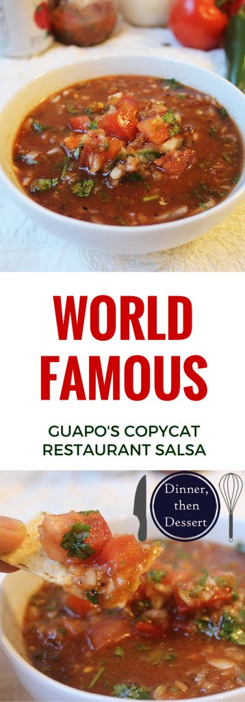 This salsa is one of the most sought after recipes in DC, and a little digging unearthed the Washington Post article from 2006 with the recipe. It takes less than 5 minutes and is hands down the best salsa ever.