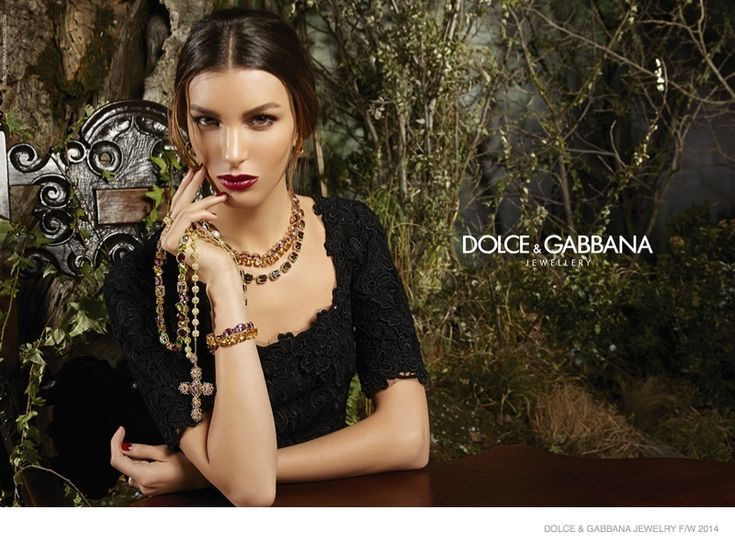 Kate King Returns for Dolce & Gabbana Fall 2014 Jewelry Ads